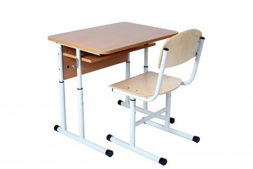 Комплект стіл учнівський 1-місний з полицею, №4-6 + стілець Т-подібний, №4-6