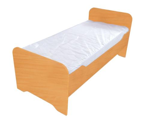 Children bed without a mattress, color-beech