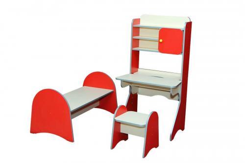 """Стінка дитяча  """"Лікарня дитяча"""", з 3-х елементів: стіл, табурет і ліжко"""