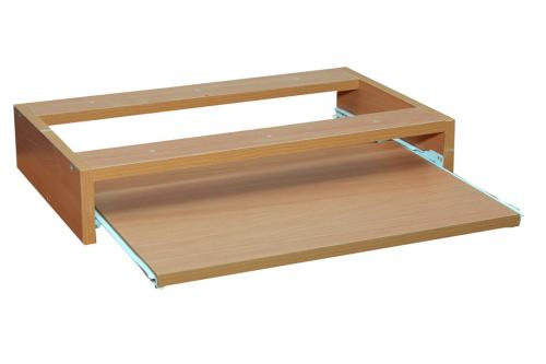 Pull-out shelf for a keyboard