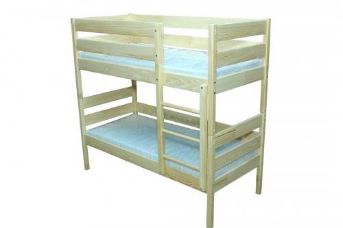 Ліжко дитяче з натуральной деревини 2-во ярусне (Соcна) без матрацу